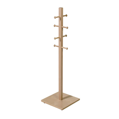 Coat Tree in Light Brown Finish
