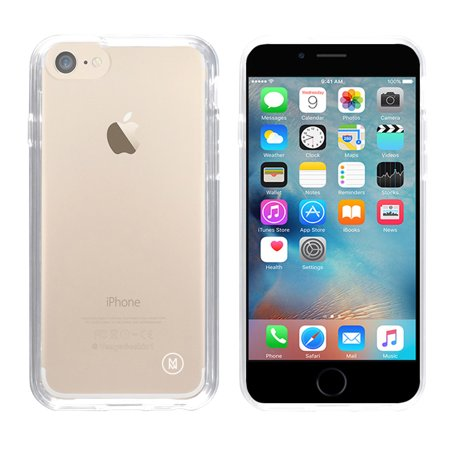 Minisuit for iPhone 7/8 - Ultra Thin Clear Case with Shock-Proof Trim and Glass Screen Protector - Walmart.com
