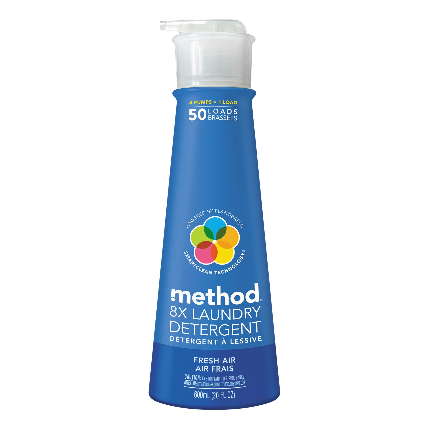 Method 8X Laundry Detergent, Fresh Air, 20 oz Bottle, 6/Carton
