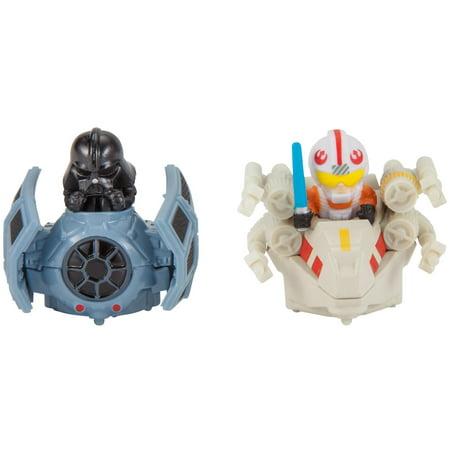 Hot Wheels Star Wars Darth Vader vs. Luke Skywalker Battle Rollers Set - Darth Maul Theme