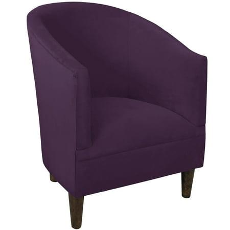 Skyline Furniture Espresso Aubergine Velvet Polyester Polyurethane Pine Tub Chair