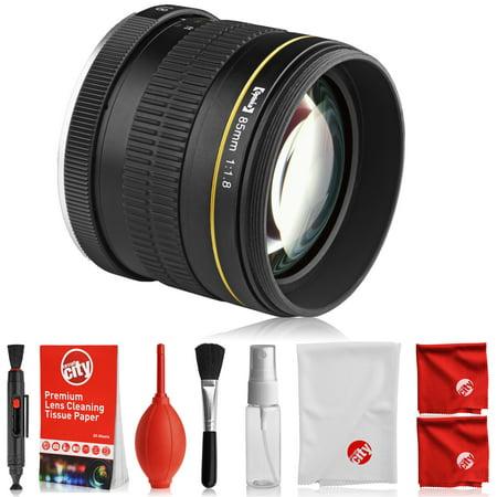 Opteka 85mm f/1.8 Full Frame Aspherical Telephoto Portrait Lens for ...