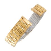 Hadley Roma LB4161Y 14mm Straight End Gold Tone Stainless Link Ladies Watchband