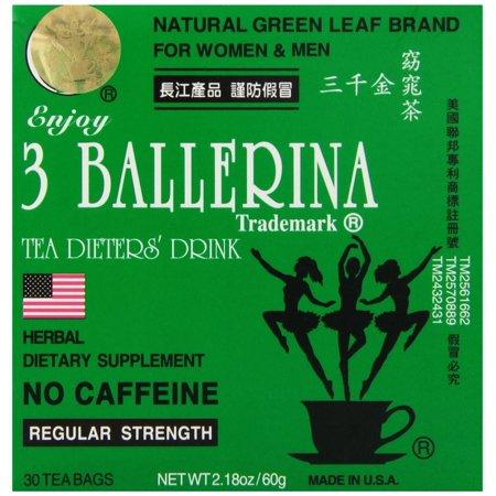 Ballerina Bag (Diet Tea for Men and Women 30 Tea Bags, Three)