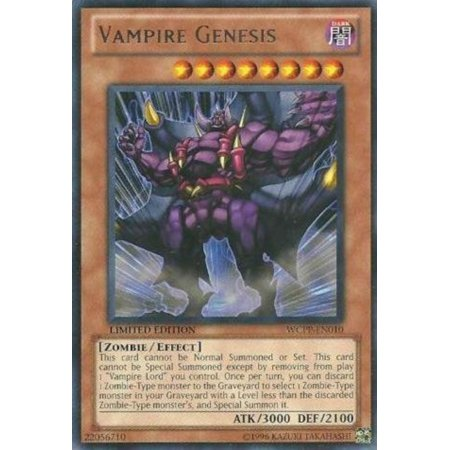 Yu-Gi-Oh! - Vampire Genesis (WCPP-EN010) - World Championship Promo Pack 2010 - Promo Edition - Rare, A single individual card from the Yu-Gi-Oh!.., By