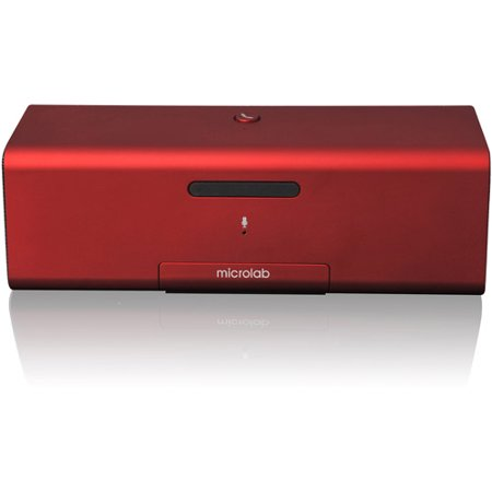 Microlab MD212 Bluetooth Wireless Portable Stereo Speaker, Red