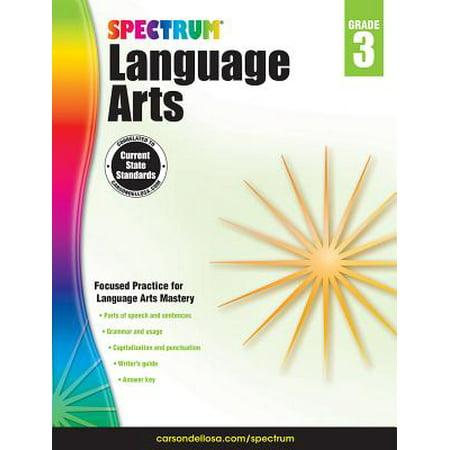 Spectrum Language Arts, Grade - Halloween Themed Language Arts Worksheets