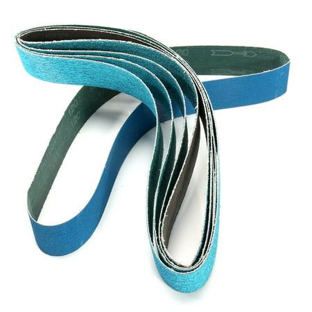 36 Inch 40, 60, 80, 120 Grits Metal Grinding Zirconia Sanding Belts 5 Pack - image 2 of 5