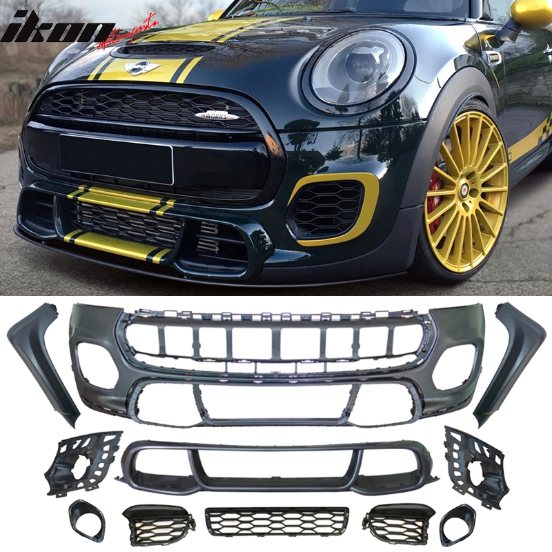 Fits 14 18 Mini Cooper F55 F56 Jcw Front Bumper Cover Conversion