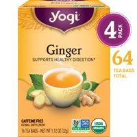 (Pack of 4) Yogi Tea, Ginger Tea, Tea Bags, 16 Ct, 1.12 OZ