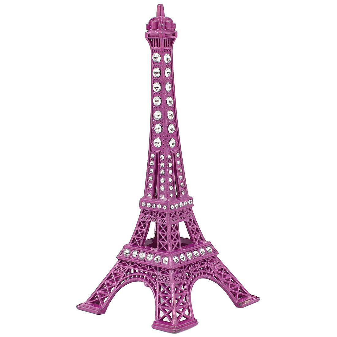 Metal Paris Miniature Eiffel Tower Model Souvenir Decoration Plum 5.1