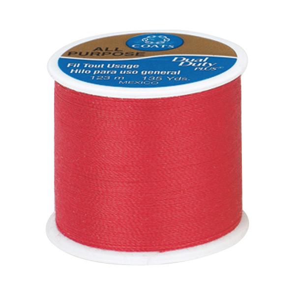 Coats & Clark All Purpose Thread, 135 yds, Red Geranium