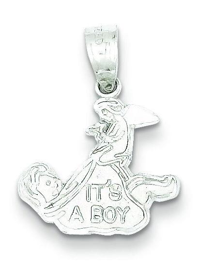 Sterling Silver It's A Boy Charm Pendant Jewelry