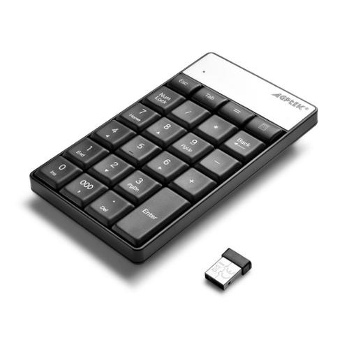 AGPTEK Wireless Numeric Keypad with USB Receiver for Macbook Laptop PC Compatible with Win & OS X System