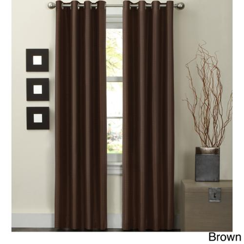 Wesley Thermal Lined 84 inch Curtain Panel Brown