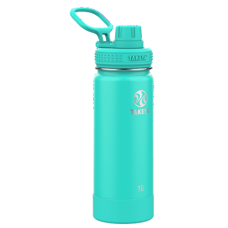 Takeya Actives Stainless Steel Water Bottle w/Spout lid, 18oz Teal