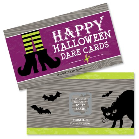 Happy Halloween - Witch Party Game Scratch Off Dare Cards - 22 - Halloween Party Mystery Games