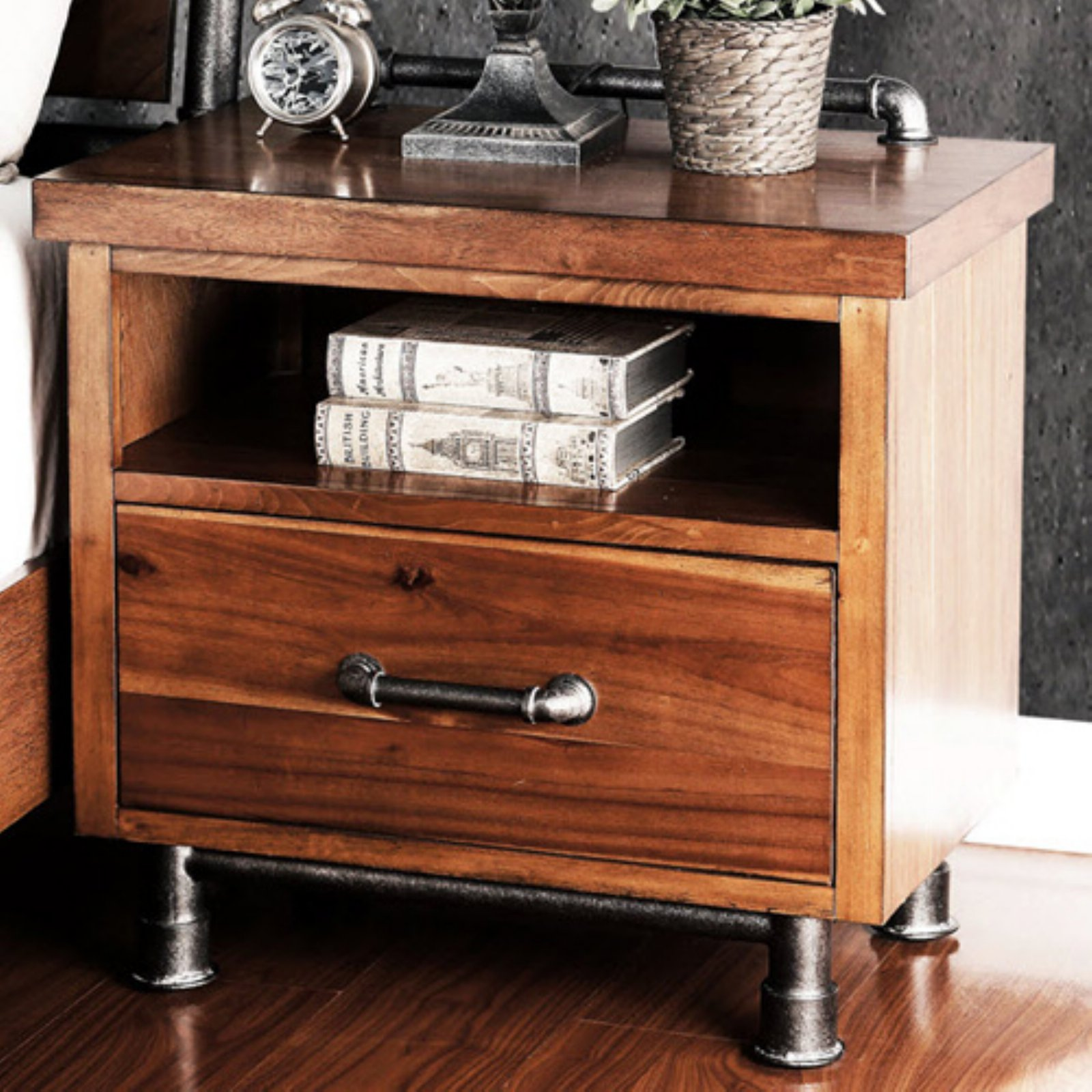 steampunk nightstand legends furniture steampunk nightstand walmart 780