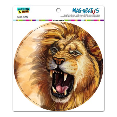 Lion Roar - Big Cat Safari Circle MAG-NEATO'S(TM) Car/Refrigerator -
