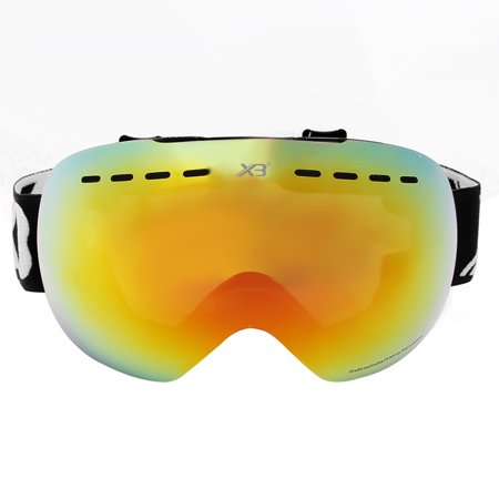 Topone Snow Ski Goggles Anti-fog/Anti-glare Double Lens UV400 Protection and Windpoof, Interchangeable and Over Glass Lens for Skiing, Snowboarding, Motorcycle