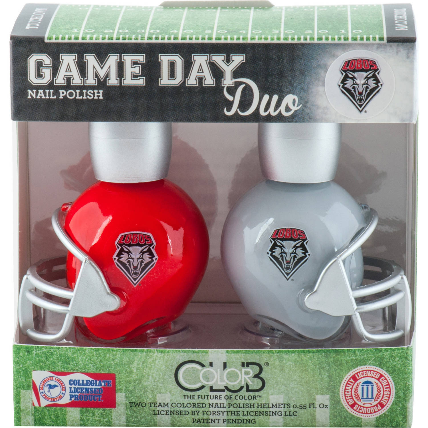 Color Club Polish Game Day Duo Pack Nail Lacquer, New Mexico, 0.55 fl oz