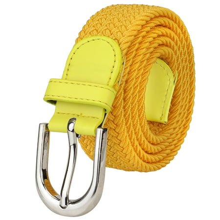 Falari Men Women Canvas Elastic Fabric Woven Stretch Braided Belt - 20 Variety Colors (Fabric Mens Belt)