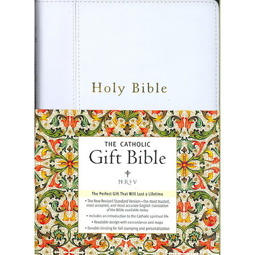 Holy Bible: New Revised Standard Version, White, Catholic Gift Edition