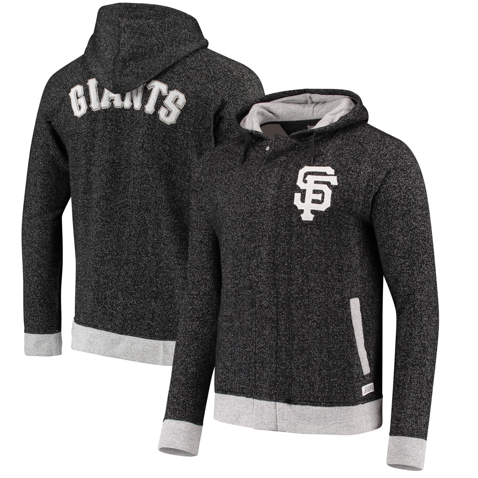 San Francisco Giants Stitches Twisted Yarn Full-Zip Hoodie - Black/Natural