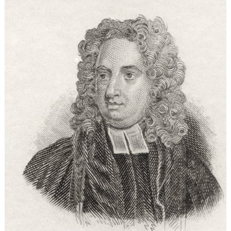 Jonathan Swift 1667 To 1745 Anglo-Irish Satirist Essayist Political Pamphleteer Poet And Cleric Who Became Dean Of St Patricks Cathedral Dublin From Crabbs Historical Dictionary Published 1825 Rolled