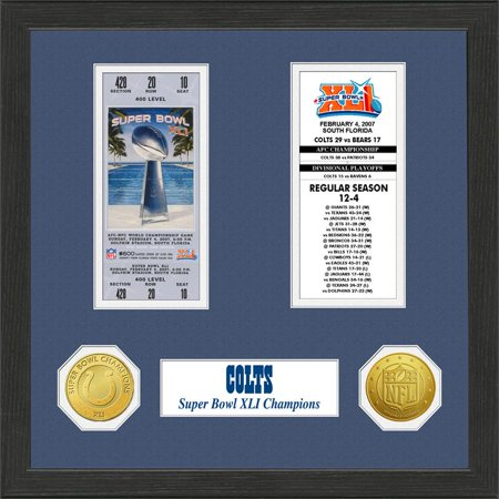 Indianapolis Colts Super Bowl Ticket Collection Plaque