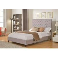 """HomeLife 48"""" Light Grey Studded Platform Bed Frame"""