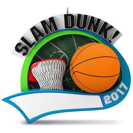 Hallmark Keepsake 2017 Basketball Star Personalization Dated Christmas Ornament