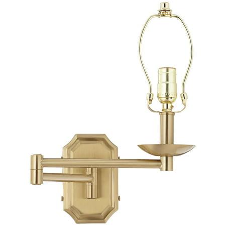 Barnes and Ivy Alta Cut Corner Antique Brass Swing Arm Wall - Antique Brass Halogen Swing Arm