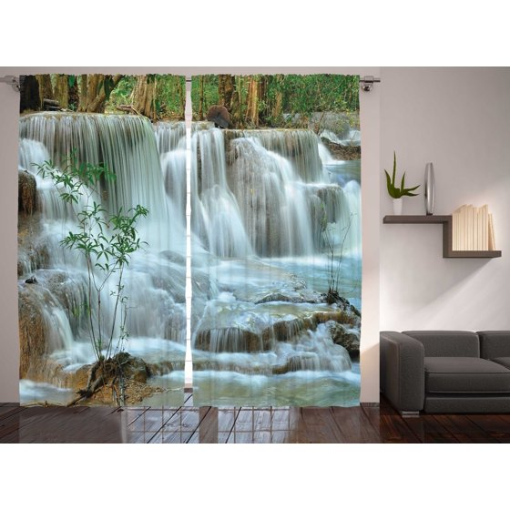 Colorful Living Room Sets: Waterfall Colorful Bedroom Living Room Curtains 2 Panels