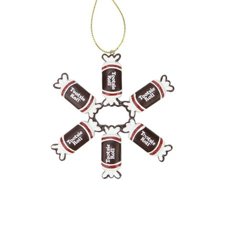 Northlight Seasonal Candy Lane Tootsie Roll Orignal Chewy Chocholate Christmas Snowflake Ornament for $<!---->