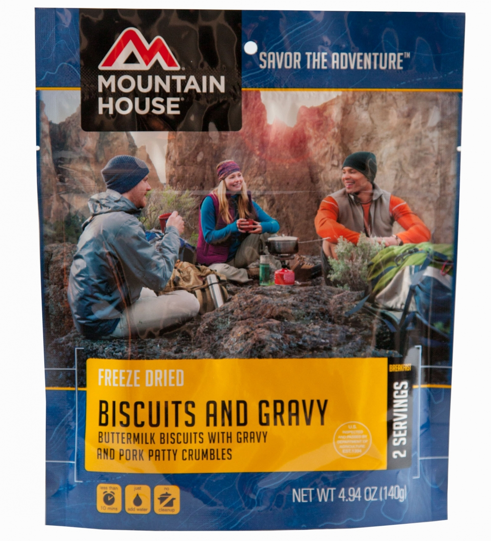 Mountain House (6 Pack) Biscuits & Gravy Breakfast Pouch by Mountain House