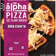 Alpha Foods BBQ Chik'n Pizza, Vegan, Non GMO, 6 oz