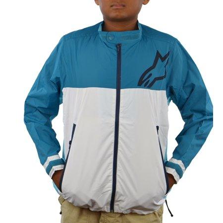 Windbreaker Motorcycle - Alpinestars ORIGAMI Boys Jacket Polyester Windbreaker, Teal