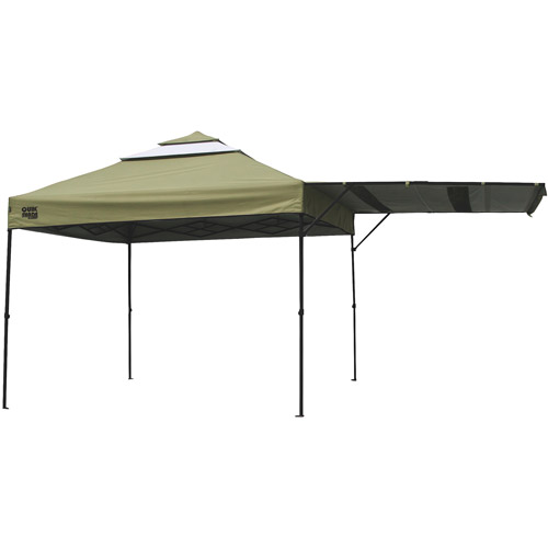 QuikShade Summit 10'x10' Straight Leg Canopy with Awning(Khaki Top)