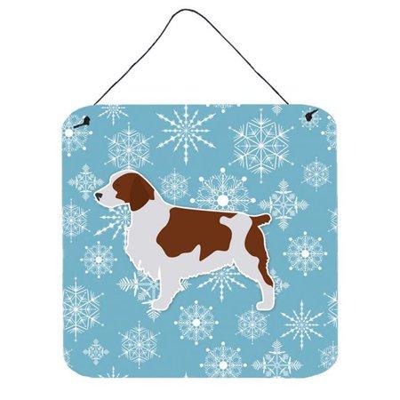 Winter Snowflake Welsh Springer Spaniel Wall or Door Hanging Prints