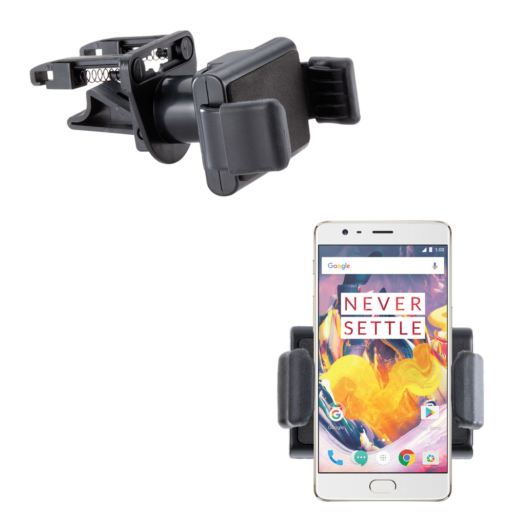 Gomadic Ultra Compact Air Vent Clip Based Cradle Holder Car / Auto Mount suitable for the OnePlus 3T