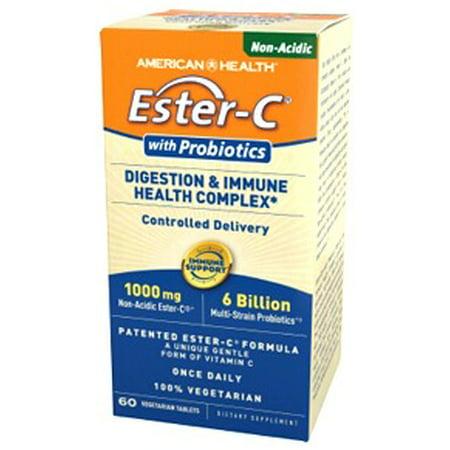 Ester-C 1000mg avec Probiotics American Health Products 60 Tabs