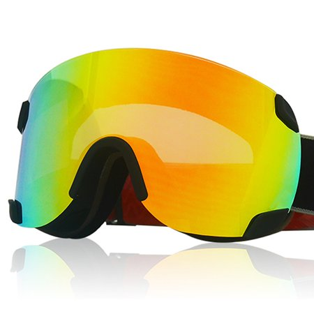 LY-100 Authorized Ski Snowboard Goggles OTG UV400 Proteciton Black