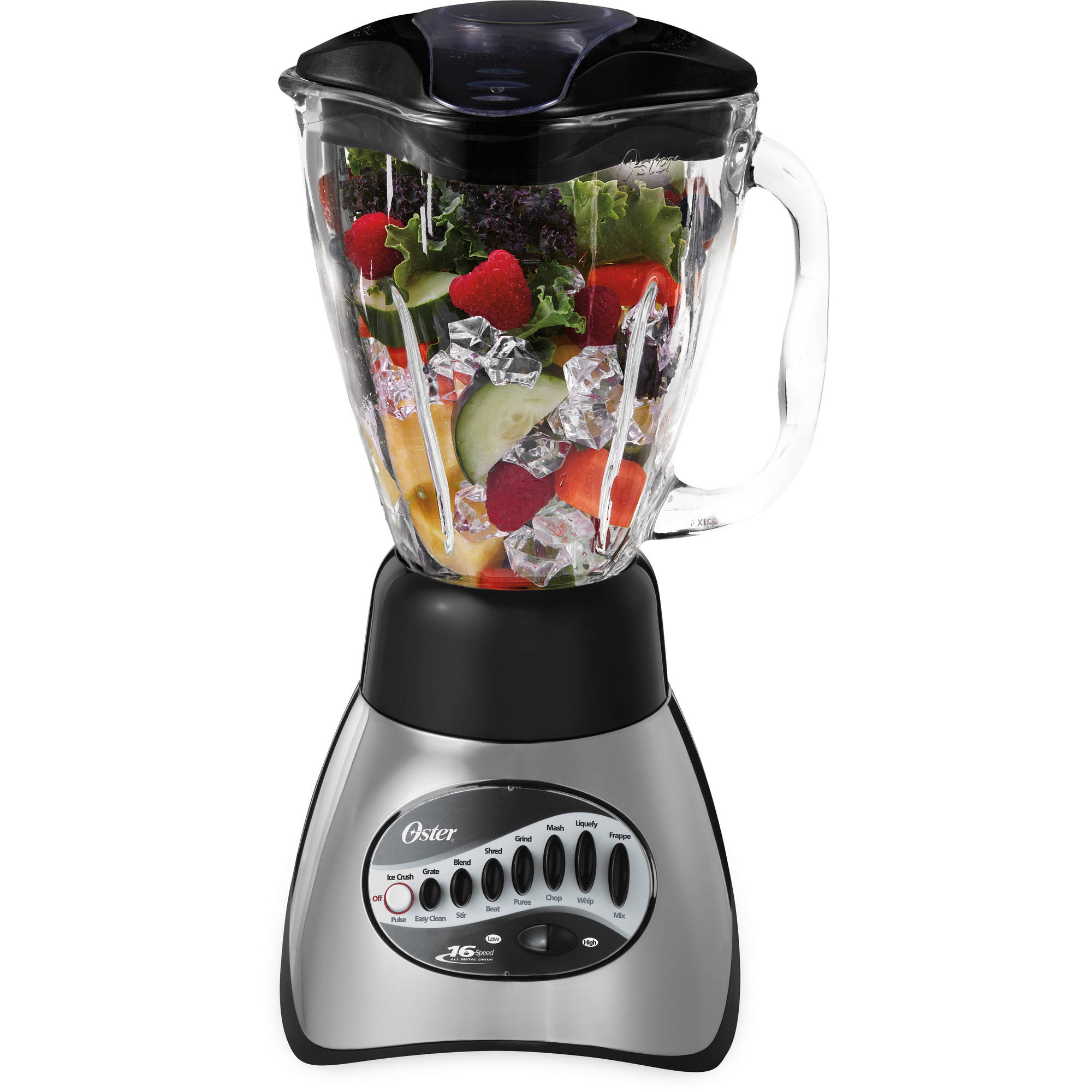 Oster 16-Speed Precise Blend 200 Blender, Brushed Nickel, 006812-001-NP0