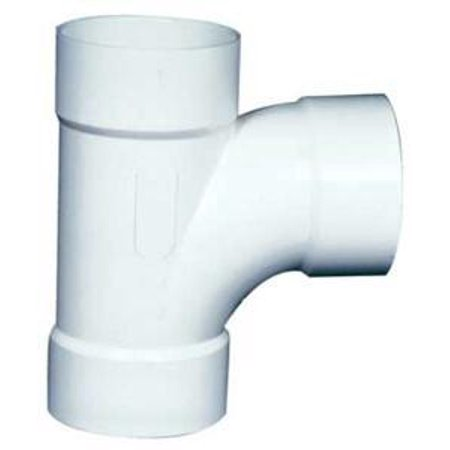 Ipex 040156 Solvent Weld Sewer And Drain Sanitary Pipe Tee  4 In  Hub  Pvc