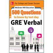McGraw-Hill Education 500 GRE Verbal Questions to Know by Test Day (Paperback)