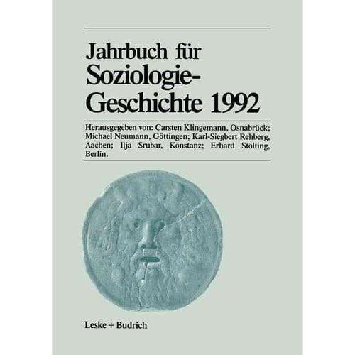 Jahrbuch Fr Soziologiegeschichte 1992