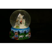 Framed Art For Your Wall Alpine Water Ball Toys Music Box Winter 10x13 Frame