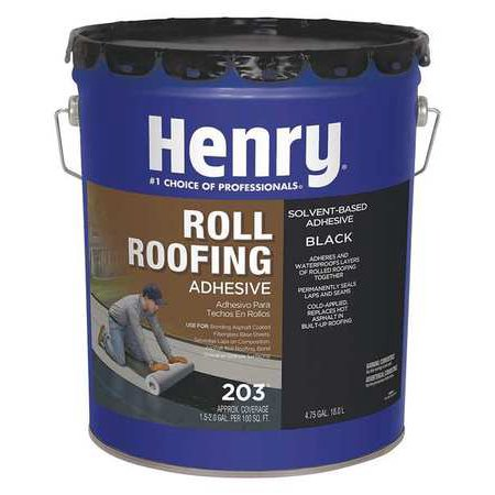 HENRY HE203071 Flashmaster 5 Gal. Black Roll Roofing Adhesive (Roll Roofing)