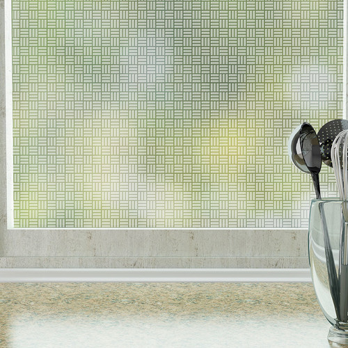 Stick Pretty Egyptian Weave  Privacy Window Film